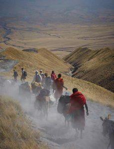 wandelen Ngorongoro Tanzania