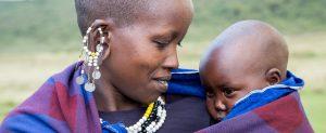 Masaï vrouw met baby