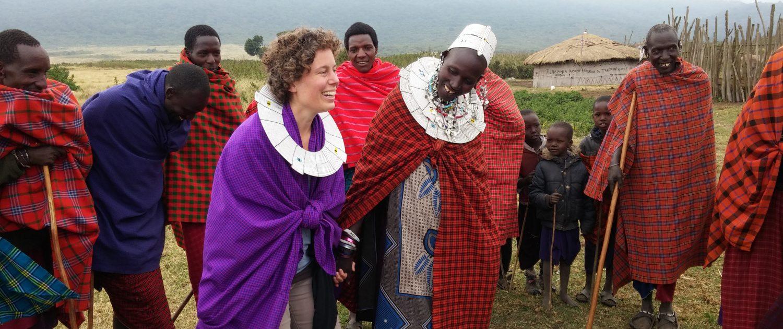 ontmoeting met Masai in Ngorongoro Tanzania