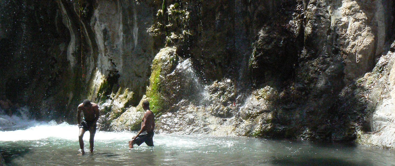 Waterfall Lake Natron