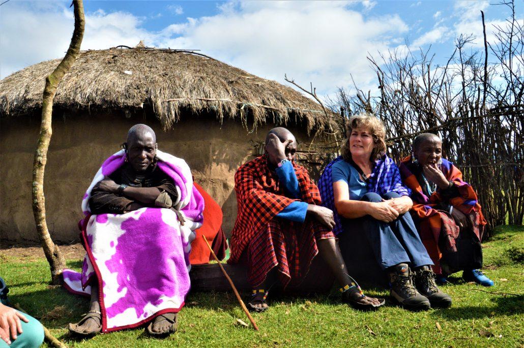 meeting Masai Ngorongoro Tanzania