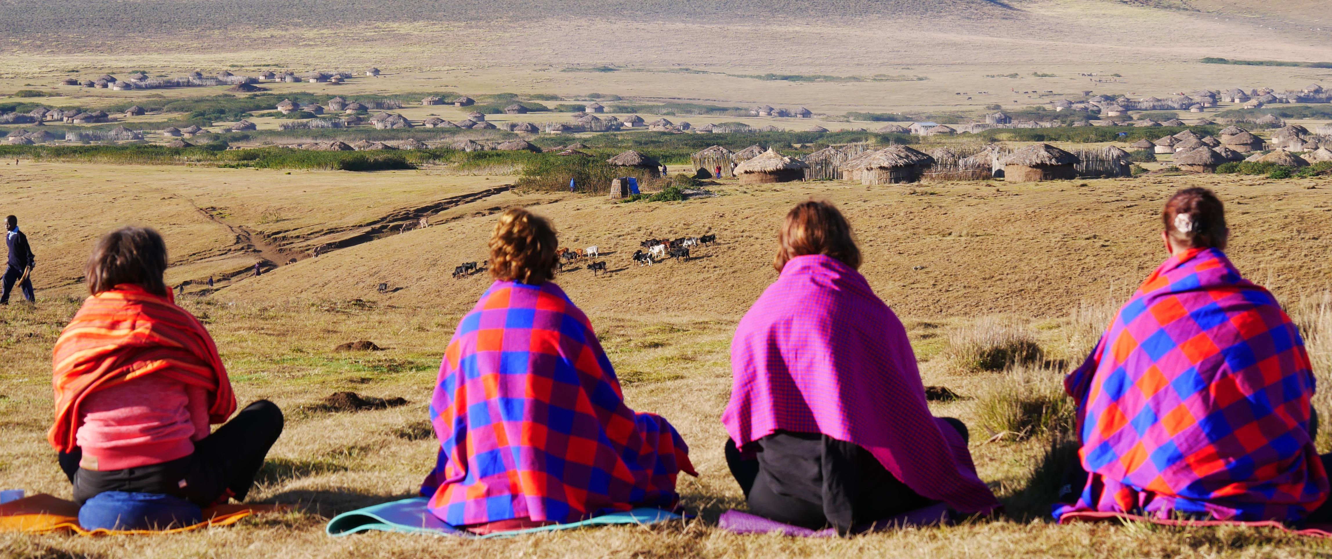 mediteren in Ngorongoro Tanzania